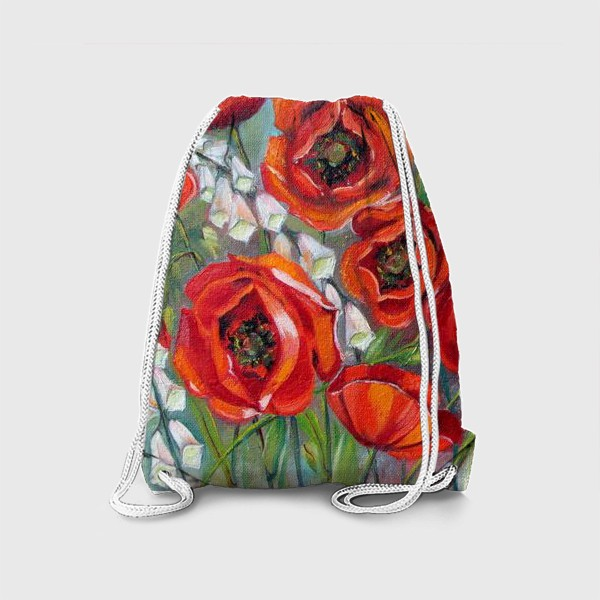 Рюкзак «Красные маки»
