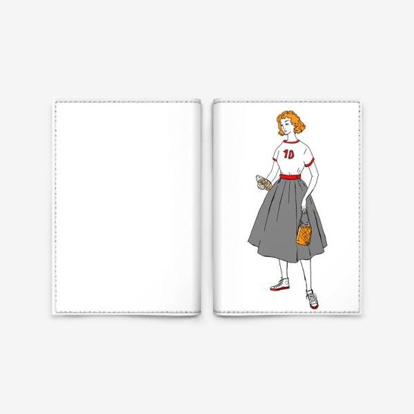 Обложка для паспорта «девушка с пивом»