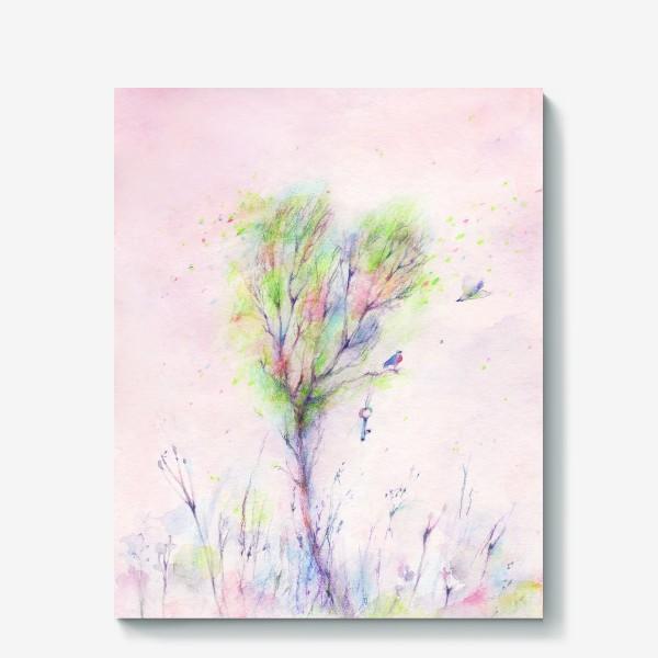 Холст «Дерево-Любовь»