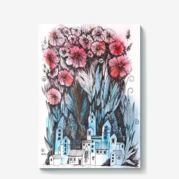 Холст «Весна в городе №2»