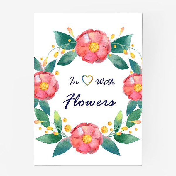 Постер «In love with flowers»