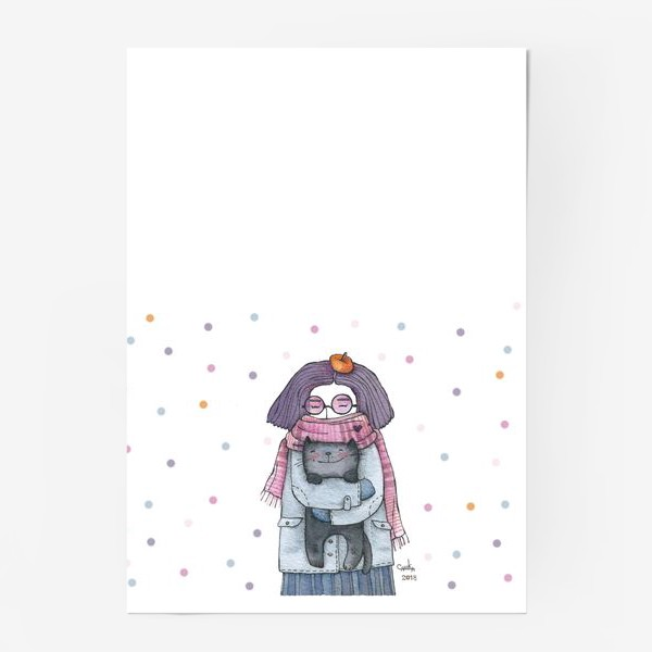 Постер «Котик и сиреневый туман»