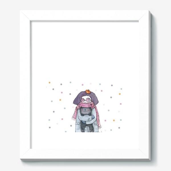 Картина «Котик и сиреневый туман»
