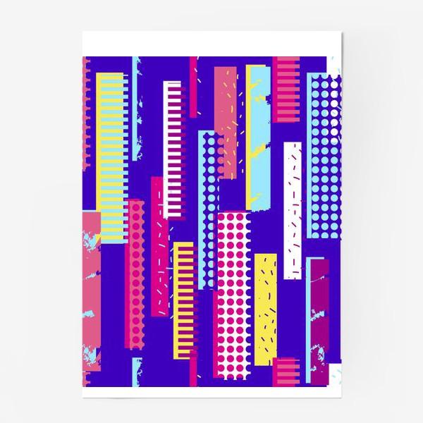 Постер «Абстрактный яркий паттерн с полосами»