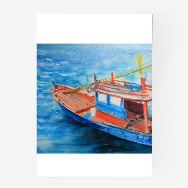 Постер «Рыбацкая лодка»