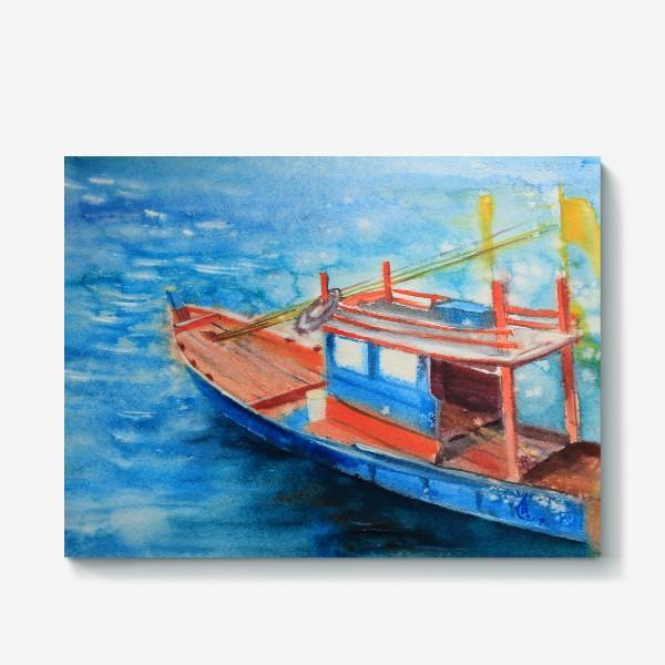 Холст «Рыбацкая лодка»