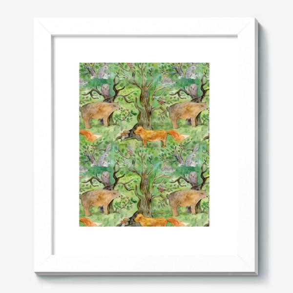 Картина «Лес. Лесные обитатели. »