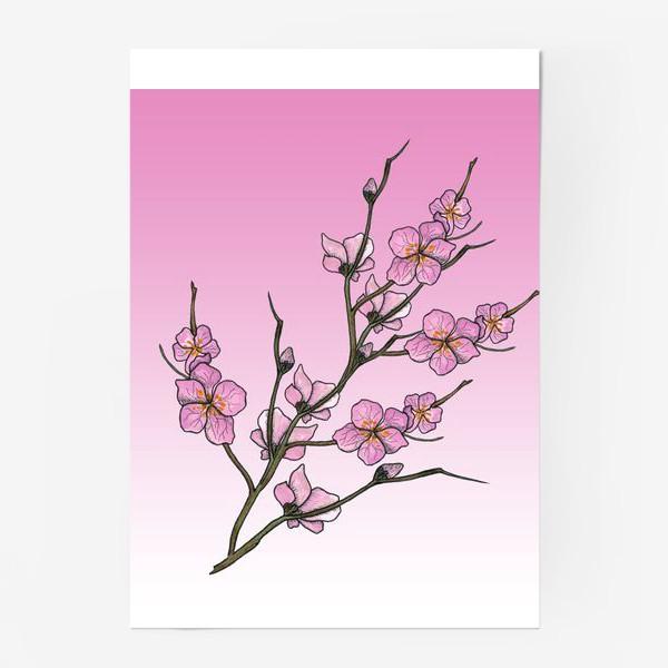 Постер «Цветущая вишня»