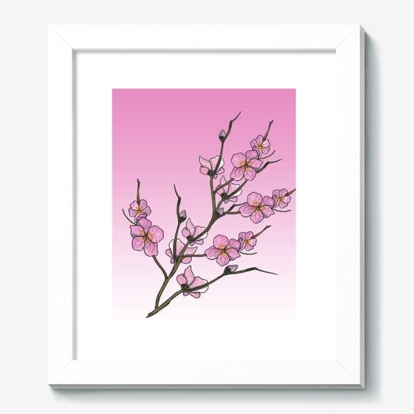 Картина «Цветущая вишня»