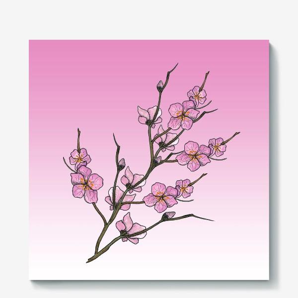 Холст «Цветущая вишня»