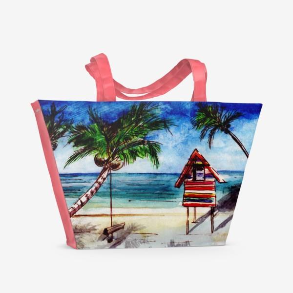 Пляжная сумка «Пальмы, море, пляж»