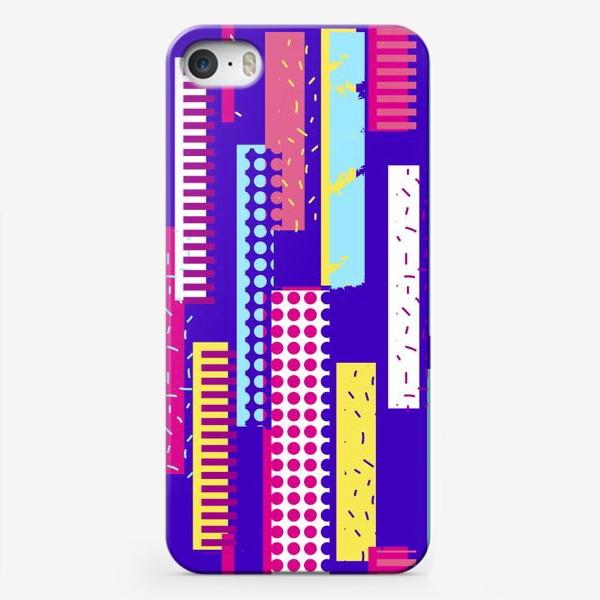 Чехол iPhone «Абстрактный яркий паттерн с полосами»