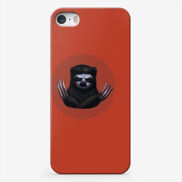 Чехол iPhone «Ленивец-росомаха»