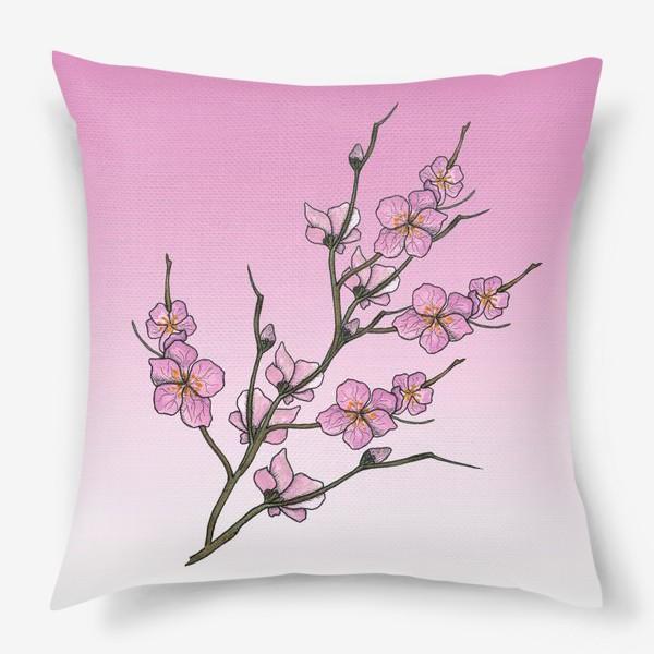 Подушка «Цветущая вишня»