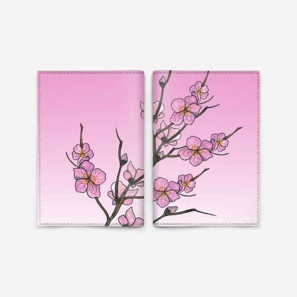 Обложка для паспорта «Цветущая вишня»