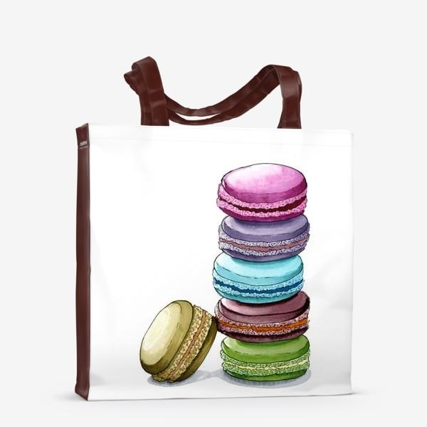 Сумка-шоппер «Разноцветные макаруны»