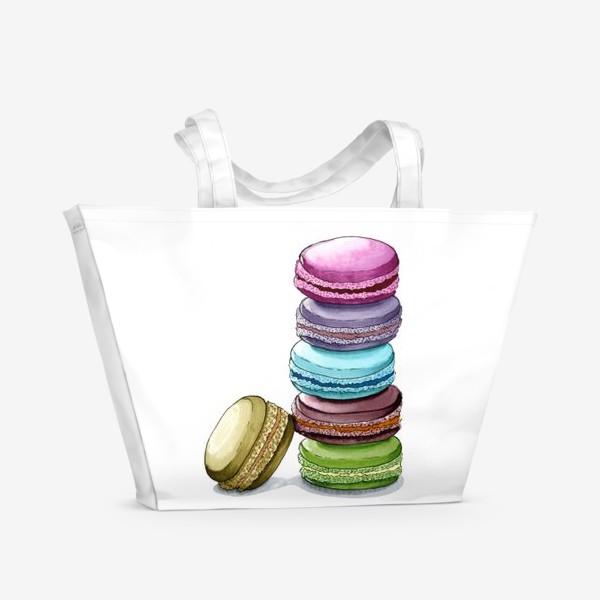 Пляжная сумка «Разноцветные макаруны»