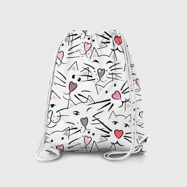 Рюкзак «Усы и сердечные носы»
