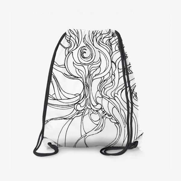 Рюкзак «Абстракция черно-белая»