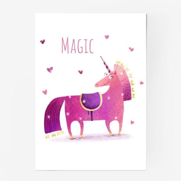 Постер «Розовый единорог»