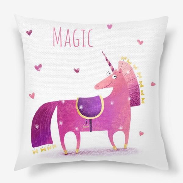 Подушка «Розовый единорог»
