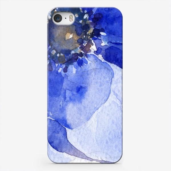 Чехол iPhone «Синие цветы Анемоны»