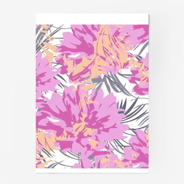 Постер «Розовые пионы»