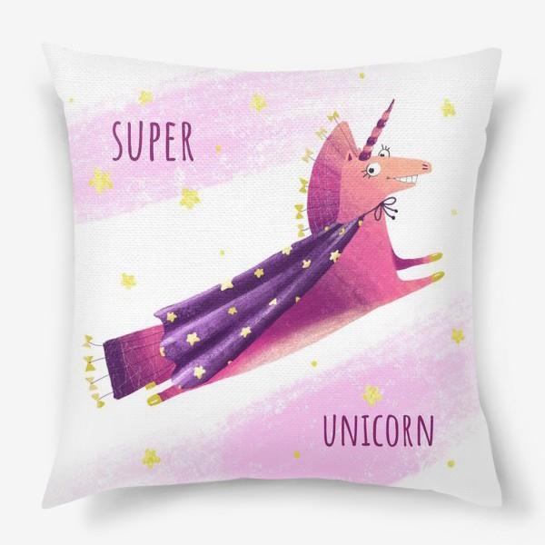 Подушка «Единорог - супермен»