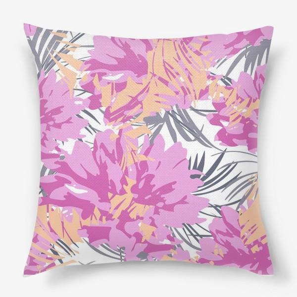 Подушка «Розовые пионы»