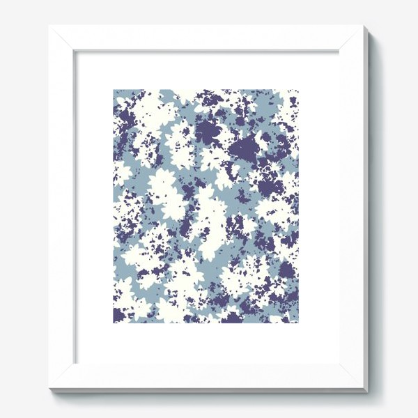 Картина «Синий цветочный камуфляж»