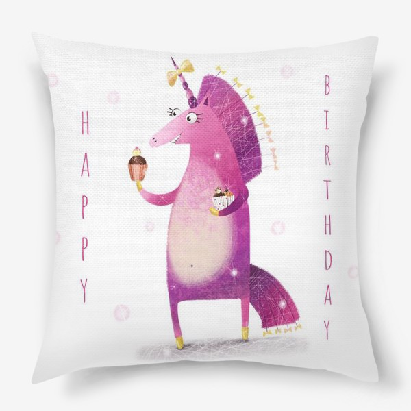 Подушка «День рождения единорога»