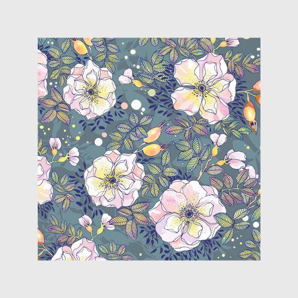 Скатерть «Цветущий шиповник. Blooming dog rose»
