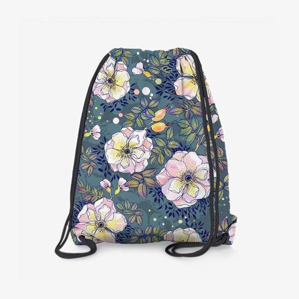 Рюкзак «Цветущий шиповник. Blooming dog rose»