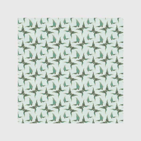 Шторы «Бабочки. Зеленый паттерн»