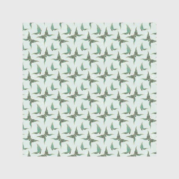 Скатерть «Бабочки. Зеленый паттерн»