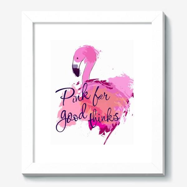 Картина «Розовый фламинго»