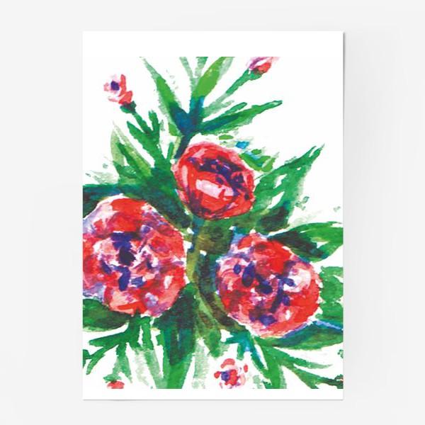 Постер «Цветы акварелью»