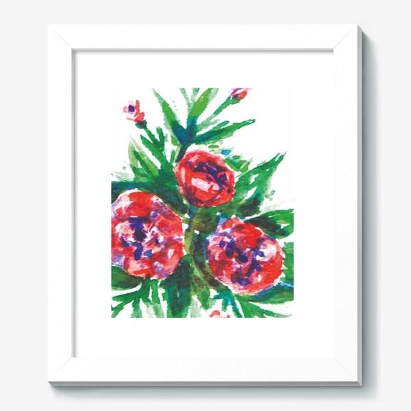 Картина «Цветы акварелью»