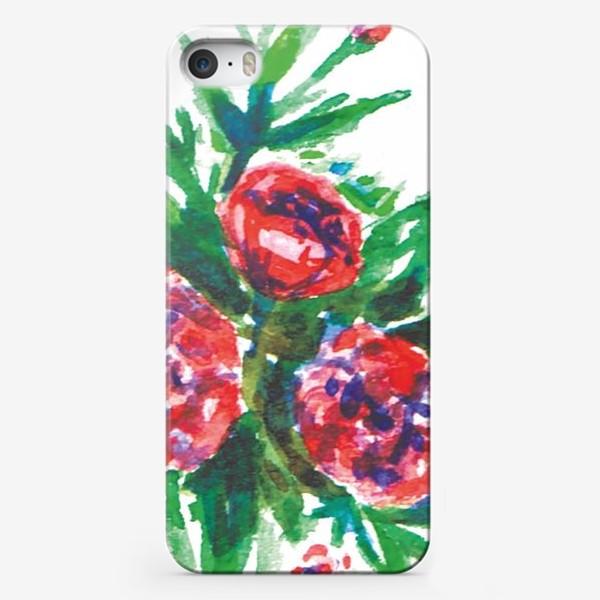 Чехол iPhone «Цветы акварелью»