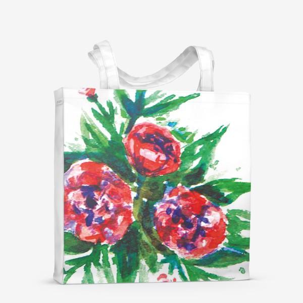 Сумка-шоппер «Цветы акварелью»