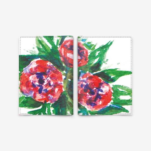 Обложка для паспорта «Цветы акварелью»