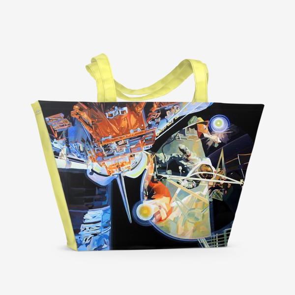 Пляжная сумка «Освоение космоса, лист №3»