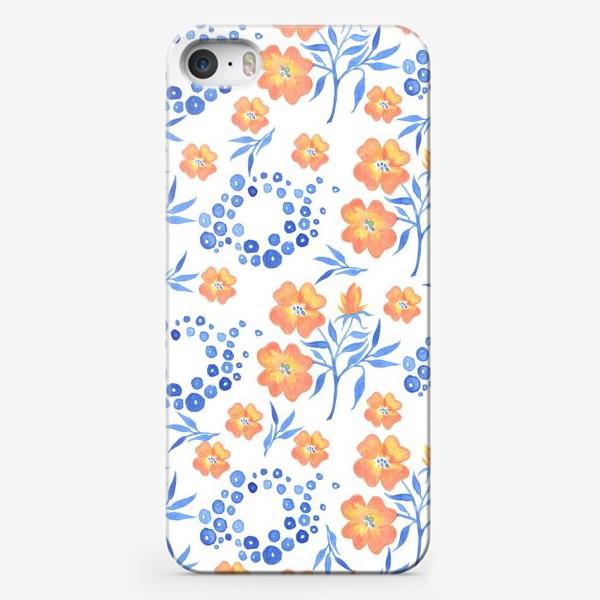 Чехол iPhone «Оранжевые цветы»