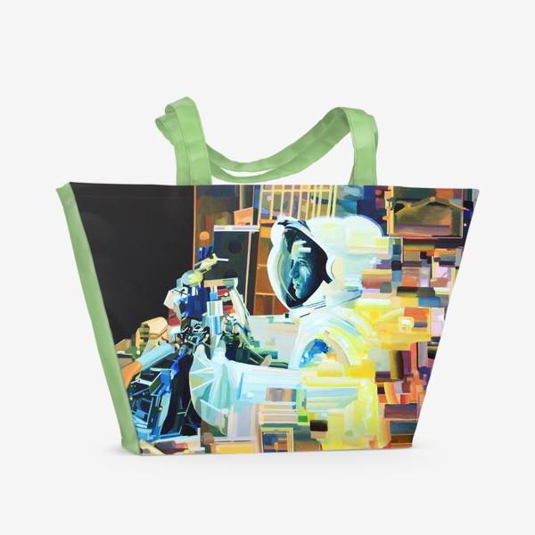 Пляжная сумка «Освоение космоса, лист №1»