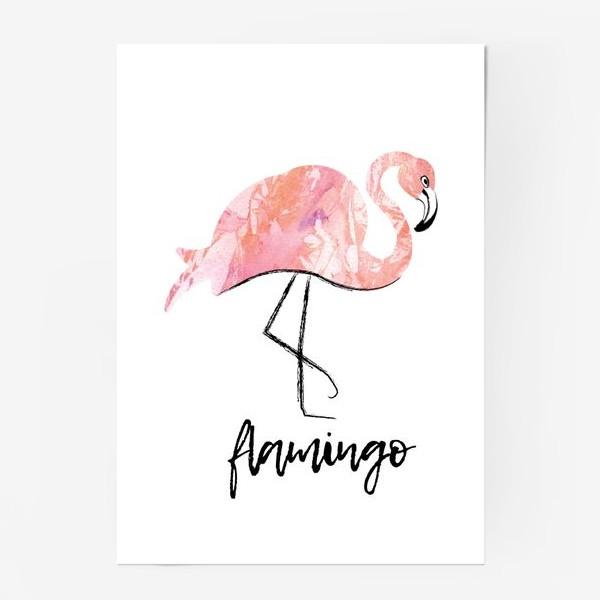 Постер «Фламинго. скетч»