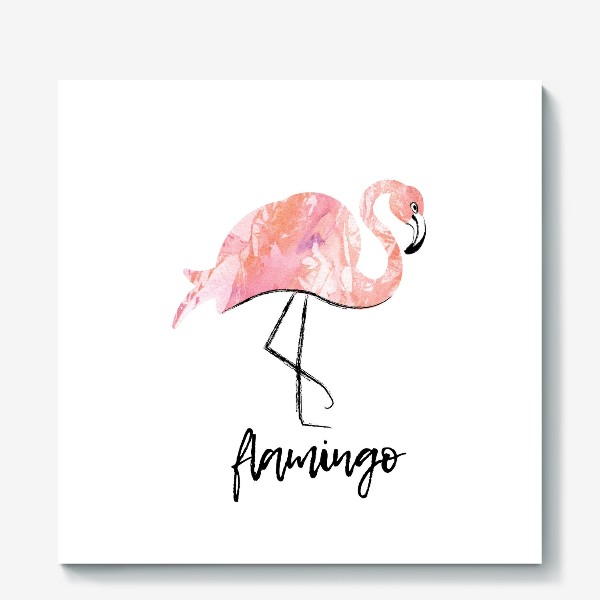 Холст «Фламинго. скетч»