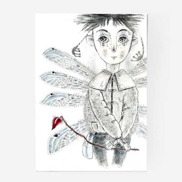 Постер «Тебе, Мое сердечко. Крылатый мальчик.»
