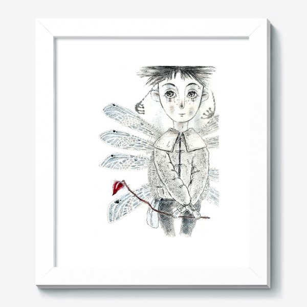 Картина «Тебе, Мое сердечко. Крылатый мальчик.»