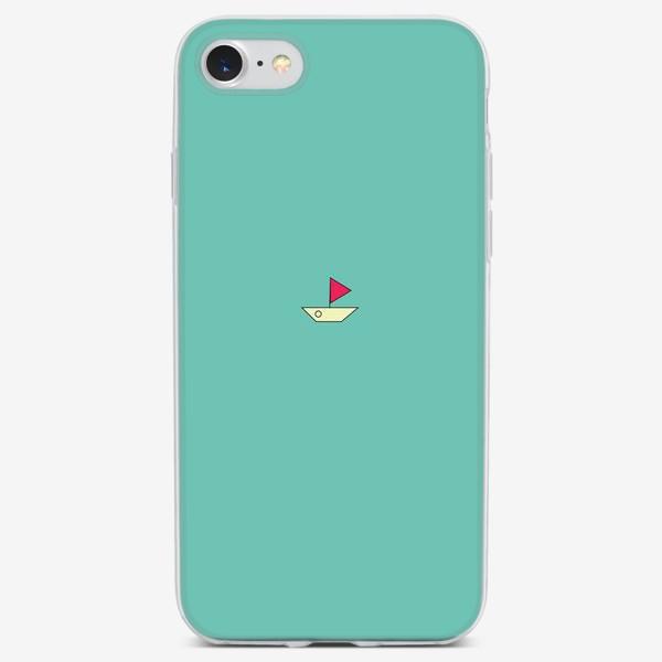 Чехол iPhone «Кораблик минимализм»
