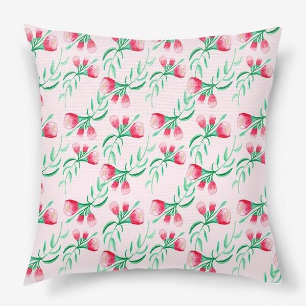 Подушка «Акварельный цветок»